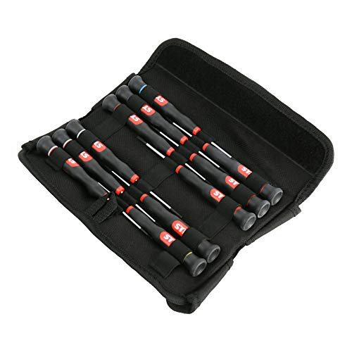 STIER Elektroniker Schraubendrehersatz, 11-teilig, für hochpräzises arbeiten, Schraubendreherset, Schraubenziehersatz, Elektrowerkzeug, Elektronik Schraubendreher