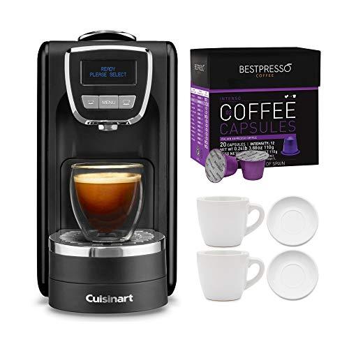 Cuisinart EM-15 Espresso Defined Espresso Machine with Dark Roast Capsules (20-Count) and 2x Cup and...