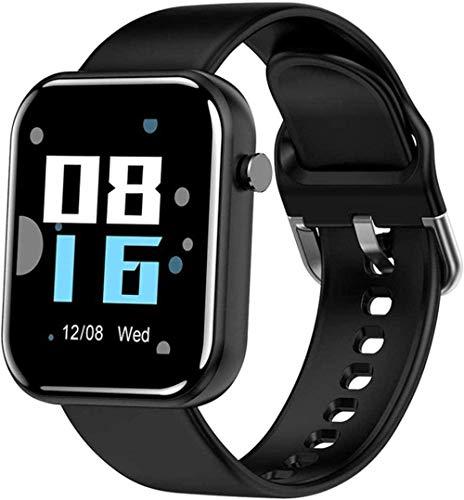 Smart Watch 1.54 pantalla táctil completa para Android iOS rastreador de actividad IP67 impermeable Bluetooth Mensaje Notificación Fitness Tracker-Rosa Uso Diario/Gris-Negro