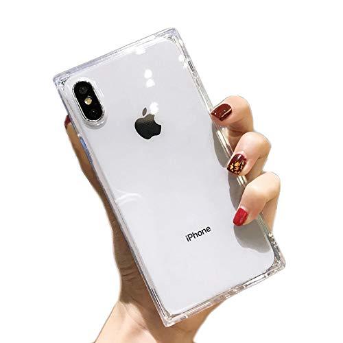 "Cocomii Square Clear iPhone Xs Max Case, Slim Thin Glossy Soft Flexible TPU Silicone Rubber Gel Trunk Box Square Edges Fashion Phone Case Bumper Cover Compatible with Apple iPhone Xs Max 6.5"" (Clear)"