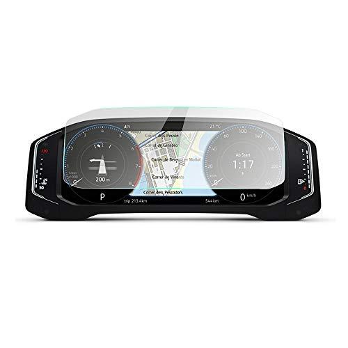 LUOERPI 10,25 Zoll Auto Aktive Info Display LCD instrumententafel Bildschirm 9 H gehärtetem Glas Displayschutzfolie, Für VW Tiguan 2019