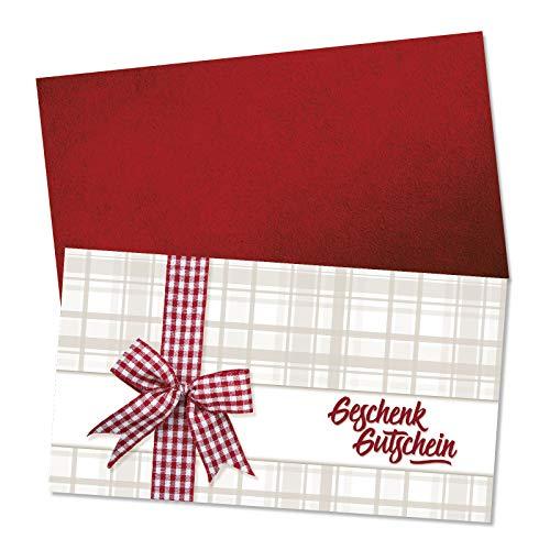 25 Gutscheinkarten + 25 Kuverts. Geschenkgutscheine für Metzgerei Fleischhauerei Fleischerei Fleisch- und Wurstwaren. Vorderseite hochglänzend. M1225