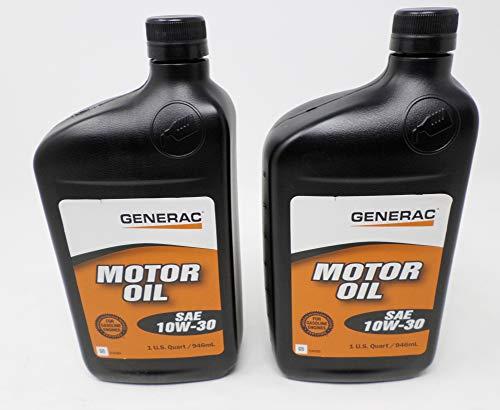 Generac 0J5139 SAE 10W-30 4-Cycle Engine Oil Quart (Pack of 2)