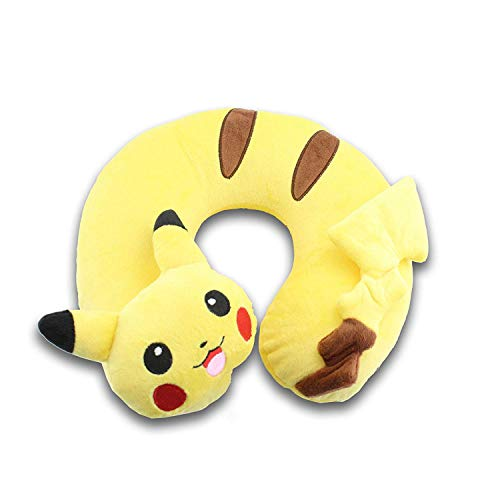 ZOUQILAI Pikachu U-Form Reisekissen Cute Soft Comfy Kissen Home Car Seat Nackenkissen Kopfstütze Unterstützung Gelb
