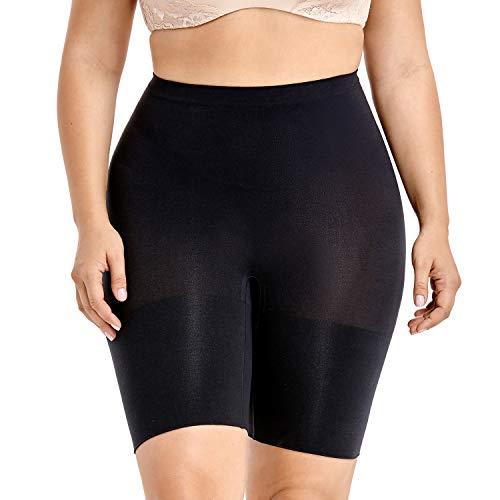 DELIMIRA Pantalones Moldeadores Braguitas Reductoras Adelgazantes Tallas Grandes para Mujer Negro 52-54