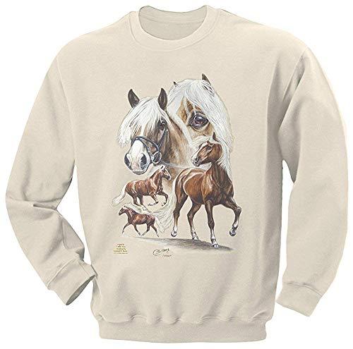 Fan-O-Menal Textilien Sweatshirt mit Pferdemotiv - Haflinger-Nilson - 09044 Creme ©Kollektion Bötzel - Gr. S-XXL Größe M