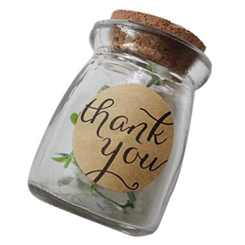 12 Stück / Bogen Danke für die Liebessticker Kraftpapier Etiketten Bonbonpapier / Kuchen Geschenke DIY