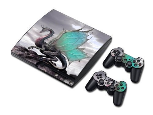 Vinyl Decal Skin/stickers Wrap for PS3 Slim Play Station 3 Console and 2 Controllers-Fly Dragon