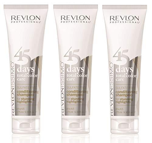 3er Revlon Revlonissimo 45 Days Conditioning Shampoo Stunning Highlights 275 ml