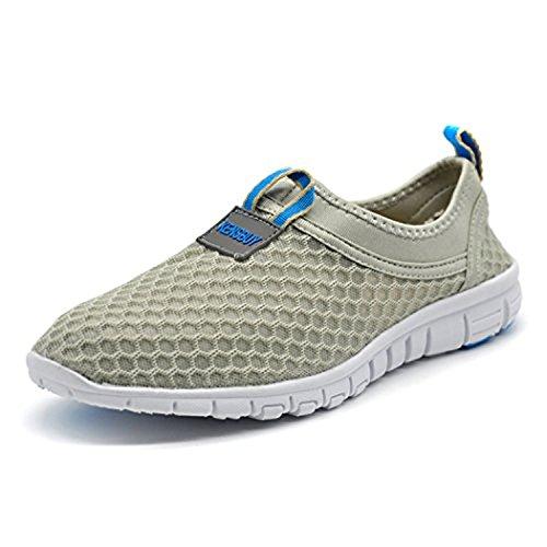 KENSBUY Men's Lightweight Slip on Mesh Shoes Quick Drying Aqua Water Shoes Athletic Sport Walking Sneaker (Blue EU41)