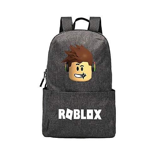 Roblox Rucksack für Mädchen Jungen Jugendliche Kinder Schultasche Frauen Cool Bookbag Mochila Feminina Schulrucksack