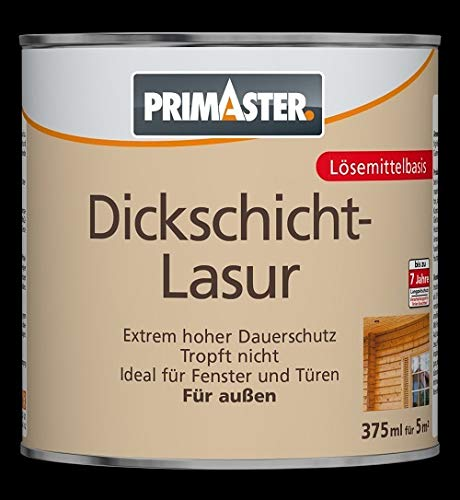 Primaster Dickschichtlasur SF1103 Holzlasur Holzfarbe Wandfarbe Außenlasur Lasur