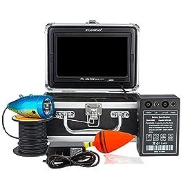 Lixada 7 Pouces 1200TVL caméra de pêche sous-Marine détecteur de Poisson 12 Lampes LED infrarouges 15 M/30 M/50 M pour…