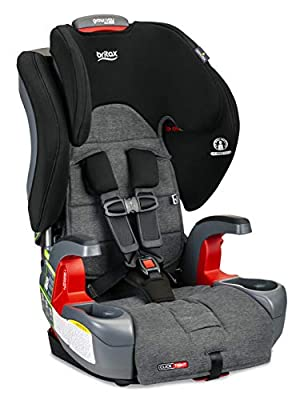 Britax Grow with You ClickTight Harness-2-Booster Car Seat - 2 Layer Impact Protection - 25 to 120 Pounds, Stayclean Fabric with Nanotex Technology [Newer Version of Frontier]