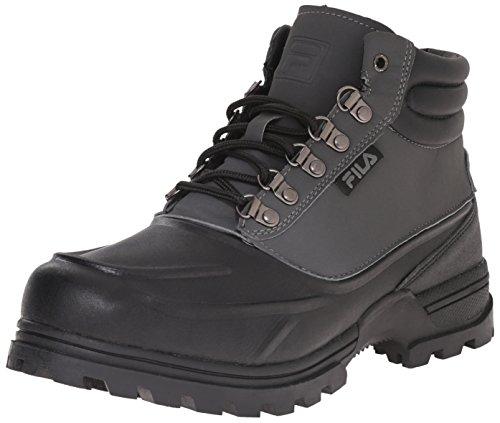Fila Men's Weathertec Hiking Boot, Black/Castle Rock/Black, 9.5 M US
