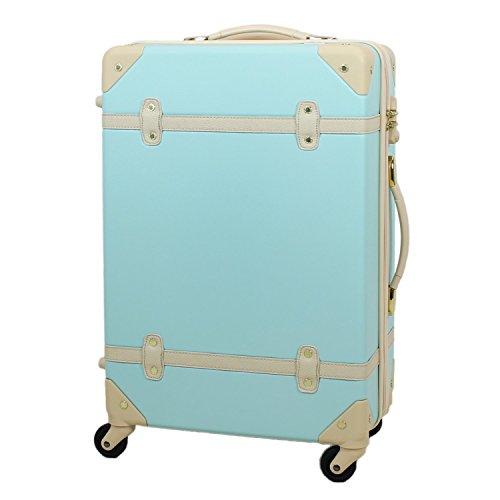 MOIERG(モアエルグ) キャリーバッグ 機内持ち込み YKK使用 軽量 かわいい スーツケース (S, ブルー)【81-80001-52】修学旅行