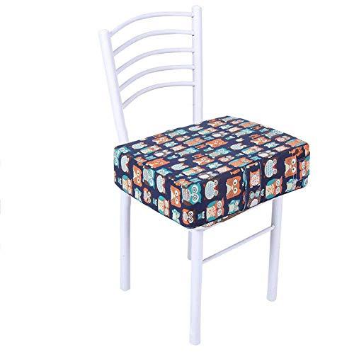 MissZZ Baby-Kindersitz mit Gurten Kleinkind Kind Demontierbar Erhöhen Quadratisches Esszimmerstuhl Pad Waschbare Dicke Hochstuhl-Sitzkissenmatte, 31,5 x 31,5 x 8 cm