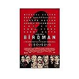 YANDING Birdman-Filmposter, Leinwand-Kunst-Poster und