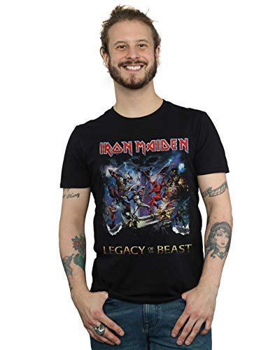 Absolute Cult Iron Maiden Hombre Legacy of The Beast Camiseta Negro Small