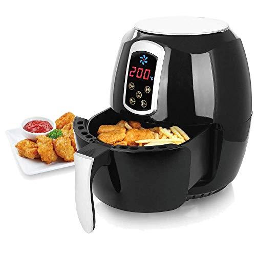 Heißluftfritteuse, Airfryer, Smart Fryer, Frittieren ohne Öl, 3,6 Liter Volumen, 1400 Watt, schwarz, Heissluft-Fritteuse,