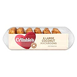 Mrs Crimble's Large Coconut Macaroons (6 per pack - 210g) Pack of 6 Please be aware that unless expressly indicated otherwise, Cooking Marvellous are not the the manufacturer of this product. Product packaging may vary from what is shown on this list...