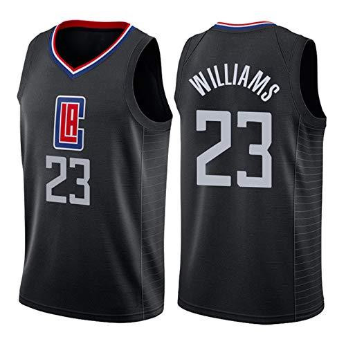 ZLWJ Camiseta para Hombre, Los Angeles Clippers # 23 Lou Williams Uniforme De Baloncesto Malla De Baloncesto Swing Camiseta Uso Diario Y Torneo De Ba Black-L