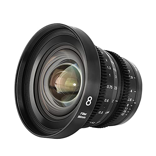 MEKE 8mm T2.9 Large Aperture Manual Focus Prime Low Distortion 4K Mini Cine Lens for Micro Four Thirds M4/3 MFT Compatible with Olympus/Panasonic Lumix Cameras and BMPCC 4K Zcam E2 GH5