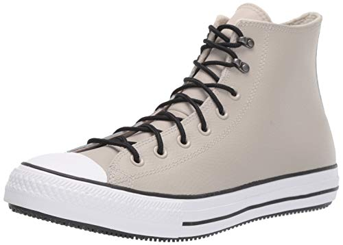 Converse Unisex^Unisex Chuck Taylor All Star Water-Resistent Leather High Top modischer Stiefel, Birkenrinde, weiß/schwarz, 38.5 EU