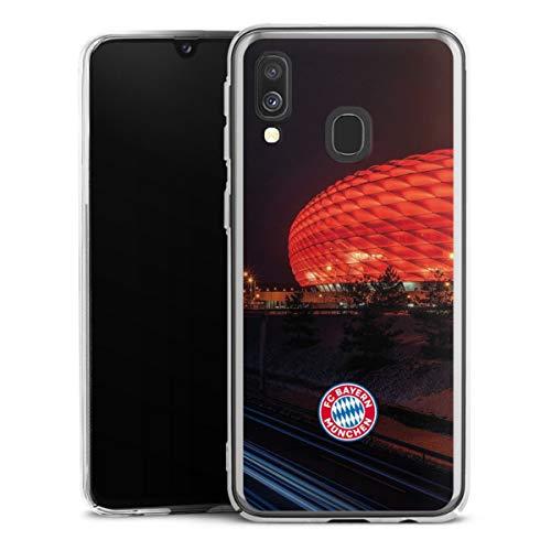 DeinDesign Hard Case kompatibel mit Samsung Galaxy A40 Schutzhülle transparent Smartphone Backcover FCB Stadion FC Bayern München