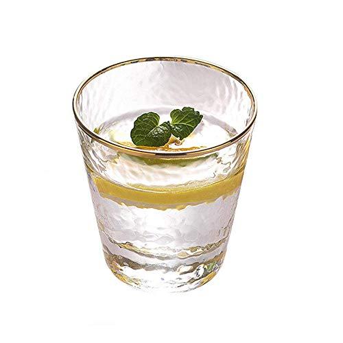 DLILI HARLIANGXY Vasos para Beber Jugo de Agua, 350 ml, Cristal, hogar, restaurantes y Fiestas, Aptos para lavavajillas y microondas