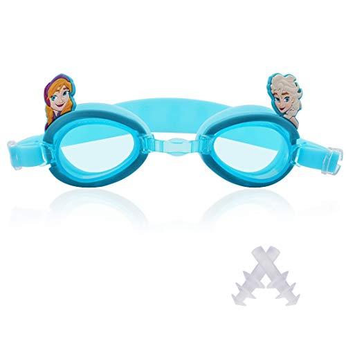 Gafas Natación Infantil Tomicy gafas de natación 3pcs Swimming Goggles Ajustable con funda gratuita tapones para los oídos para niños y adolescentes