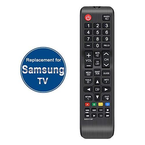 Gvirtue BN59-01199F Substituição para televisores Samsung de controle remoto e a maioria dos televisores Samsung de LED LCD padrão 2K 4K HDTV QLED e Smart Hub TVs Samsung UN32/40/43/48/50/55/58/ 60/65 polegadas J/JU Series TVs