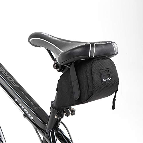 Lixada Mini Mountain Bike Saddle Bag Pouch Road Bicycle Seat Tail Pack Outdoor Cycling Seatpost Bag
