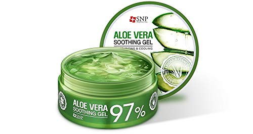 SNP - 97% Aloe Vera Soothing Gel - Maximum Soothing & Moisturization for All Sensitve Skin Types - Excellent After Sun Care Relief - 300g
