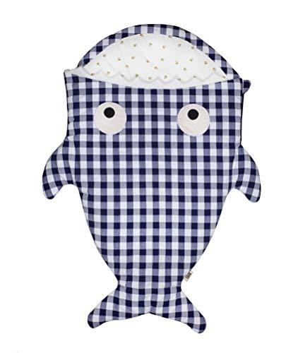 Baby Bites ORIGINAL - Saco de dormir VICHY AZUL, estampado MUFFINS - Modelo INVIERNO