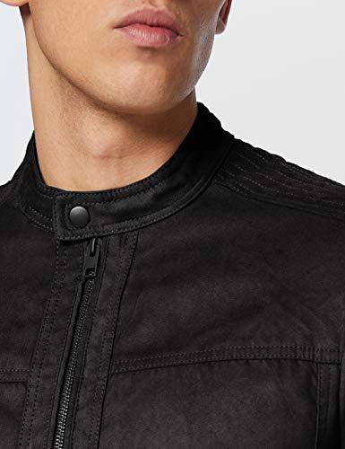 Jack & Jones Jjewarner Jacket Noos Chaqueta de Cuero sinttico, Negro, L para Hombre