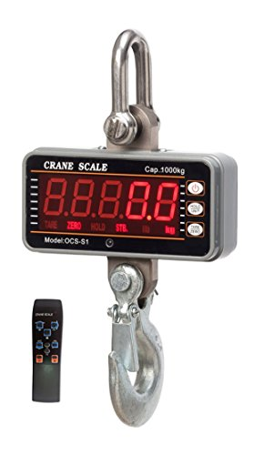 Isunking acciaio 1000 kg 1t 2000lbs Bilancia Digitale gru in alluminio resistente compatto Hanging Scale ocs-s1 Smart tipo Display LED 0,5 kg con telecomando