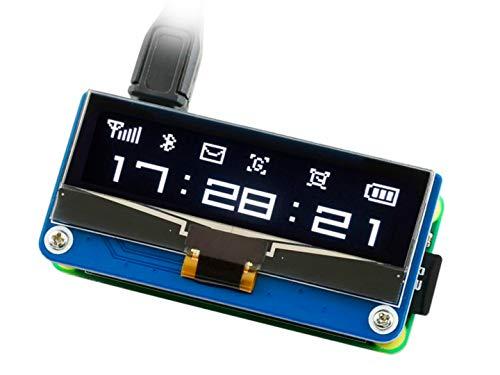 2,25 Zoll OLED Display HAT, 128 × 32 Pixel SPI/I2C Schnittstelle Emed SSD1305 Treiber für Raspberry Pi 4B/3B+/3B/2B/Zero/Zero W/Zero WH und Jetson Nano