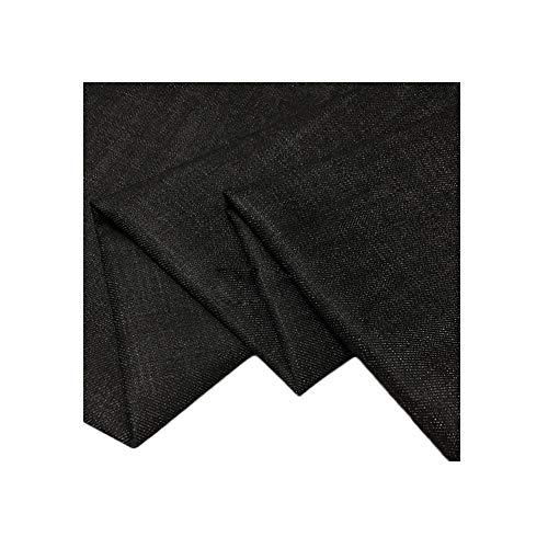 Zwarte stretch denim stof lente- en herfstrok DIY-stof katoenen kledingstof