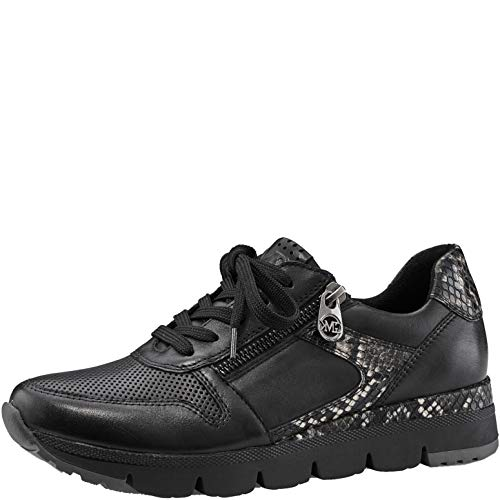 MARCO TOZZI by Guido Maria Kretschmer 2-2-83700-25 Leder Sneaker, Zapatillas Mujer, Nappa C. Negro, 38 EU