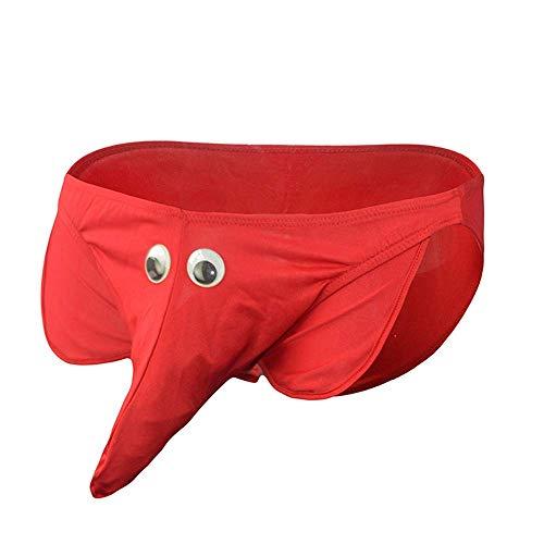 Papapai Tangas sexys para hombre, elefante, bragas resaltadas, rosso, Taille unique