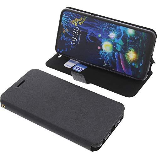 foto-kontor Tasche für LG V50 ThinQ 5G Book Style schwarz Schutz Hülle Buch