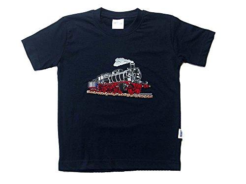 Zintgraf T-Shirt Stickerei Dampflok Lokomotive Eisenbahn #T15 (116, Blau)
