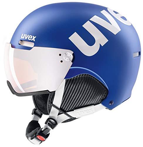 uvex Unisex– Erwachsene, hlmt 500 visor Skihelm, cobalt-white mat, 55-59 cm