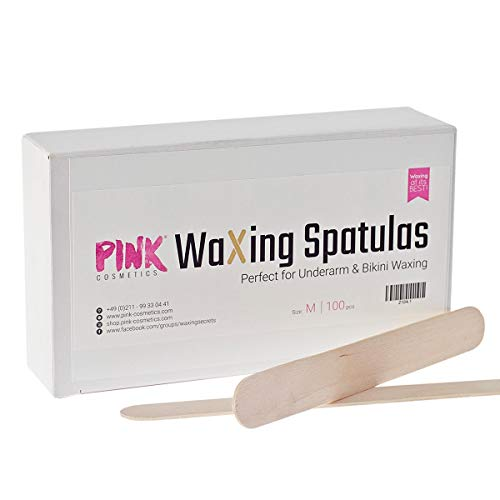 Mittelgroße Wachs Holzspatel, 100 Stück - Perfekt für Bikini-Waxings, Waxing an Wangen, Nacken und Achseln