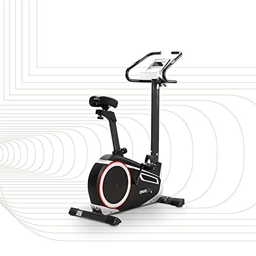 SportPlus Heimtrainer Fahrrad für zuhause, Kinomap-App, Ergometer ideal für Heimtraining, 24 Widerstandsstufen, brustgurtkompatibel, Nutzergewicht 150 kg, Fitness Bike, Sicherheit geprüft
