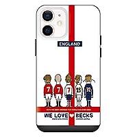 iPhone12mini iPhoneケース ハードケース [カード収納/耐衝撃/薄型] WE LOVE BEKS (ホワイト) アイフォンケース スマホケース 携帯電話用ケース CollaBorn Soccer Junky (サッカージャンキー)