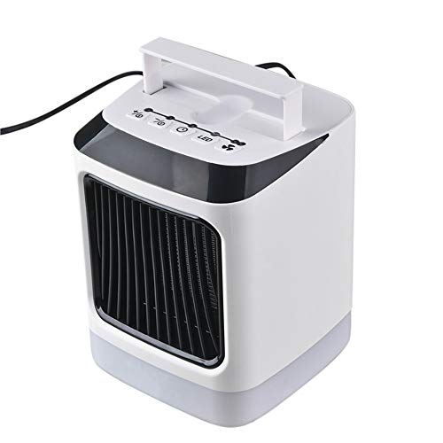 For Sale! GOTDCO. Portable Led Space Heater,Mini Personal Desktop Handy Fan with Remote Control & Ad...