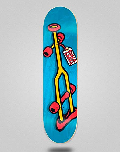lordofbrands Black Label Monopatín Skate Skateboard Deck OG Crutch 8.25 Yellow