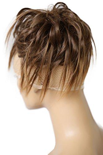 PRETTYSHOP XXL Postizo Coletero Peinado alto, VOLUMINOSO, rizado, Moño descuidado mezcla marrón # 4T30 G8F